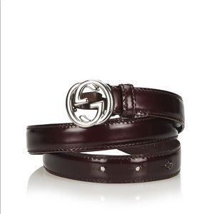 Gucci Double G Brown Belt Size 105/US 36